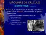 m quinas de c lculo electr nicas 2 generaci n
