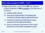 basic safety management sarps part ii