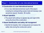 phase 3 construction of a new international terminal
