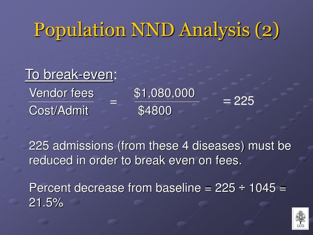 Population NND Analysis (2)