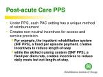 post acute care pps