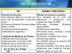 nic 2 existencias29