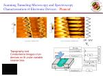scanning tunneling microscopy and spectroscopy characterization of electronic devices phaneuf