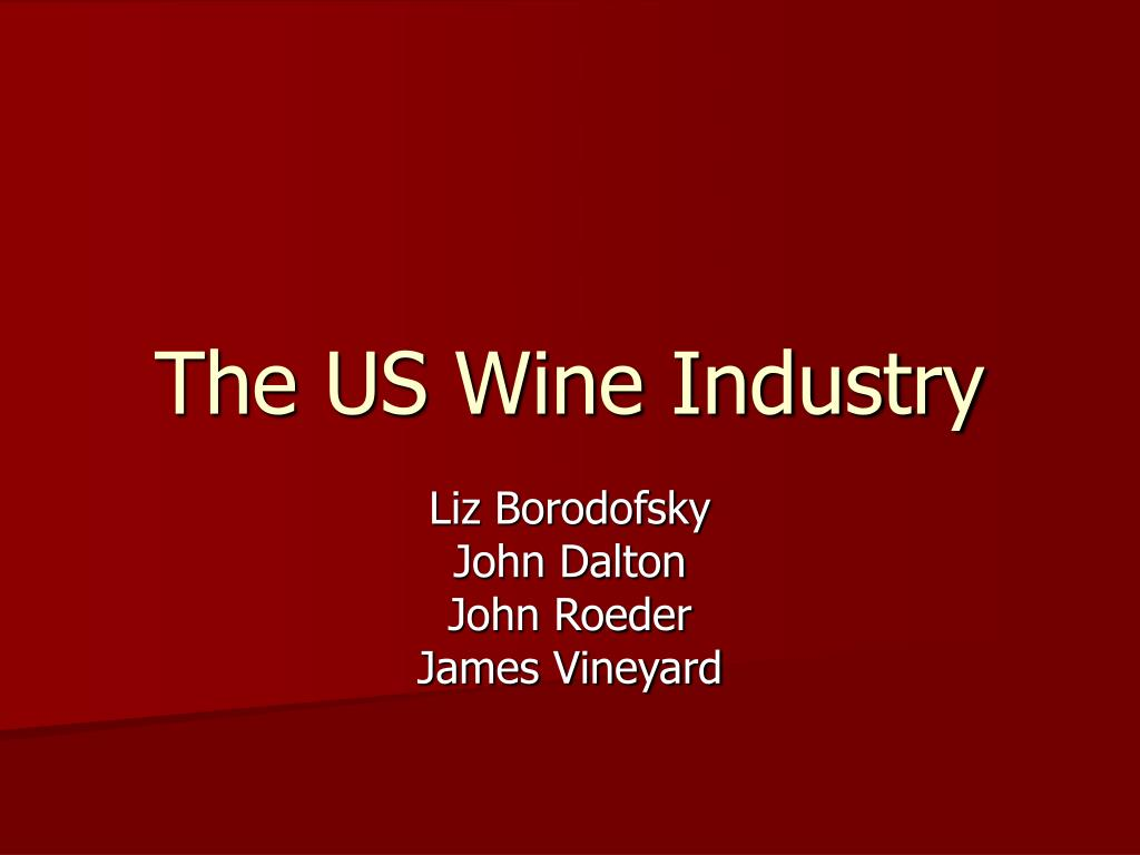 the us wine industry l.