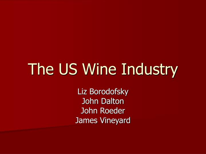 competitive strategy of wine industry