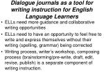 dialogue journals as a tool for writing instruction for english language learners