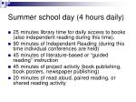 summer school day 4 hours daily