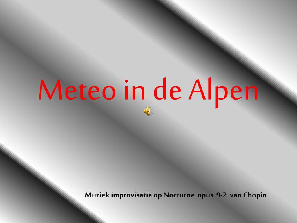 meteo in de alpen l.
