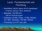 land forstwirtschaft und fischfang