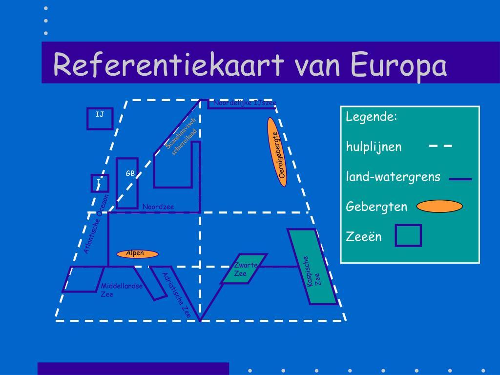 referentiekaart van europa l.