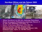 hurrikan wilma und die saison 2005 nordatlantik stand 26 10 2005