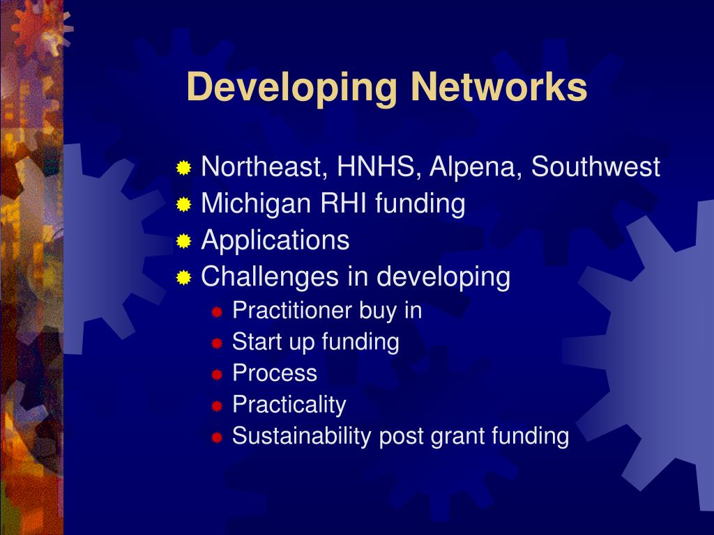 Developing Networks