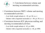 3 correlation between volume and meeting recommended activities