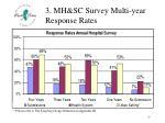 3 mh sc survey multi year response rates