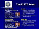 the elite team