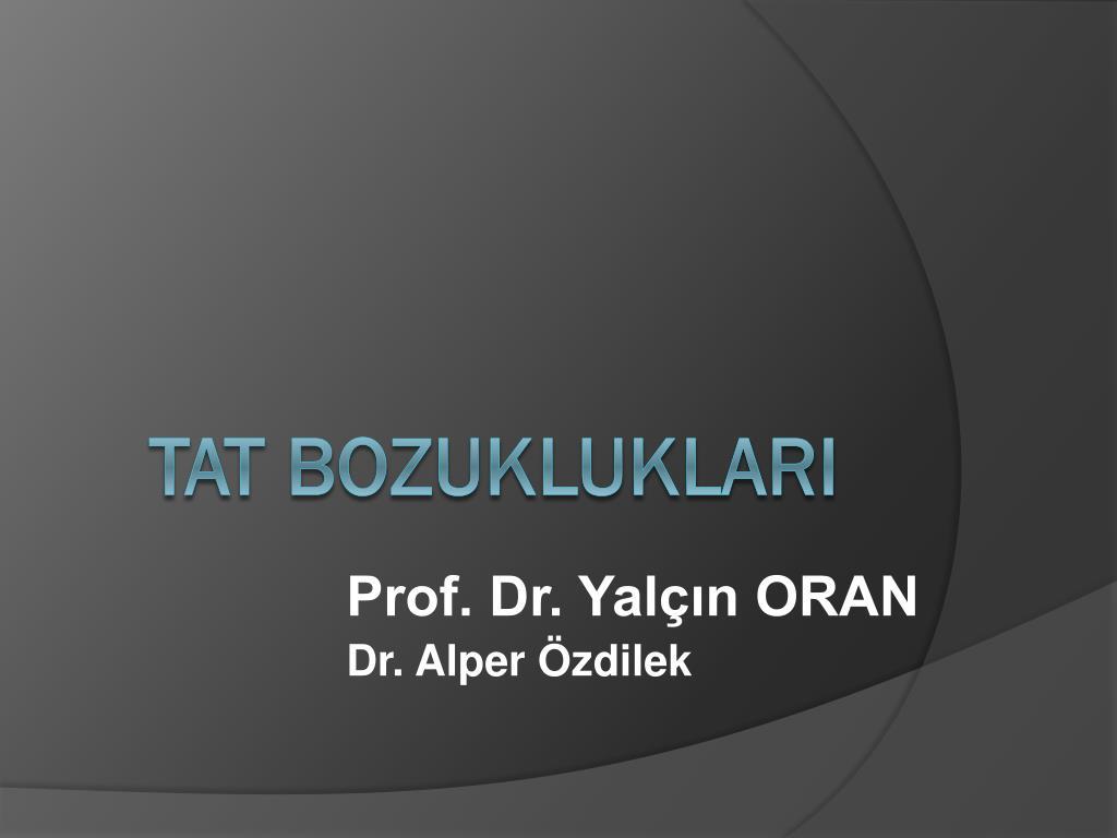 prof dr yal n oran dr alper zdilek l.