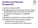 conflict and feminist perspective