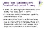 labour force participation in the canadian post industrial economy