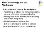 new technology and the workplace