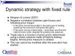 dynamic strategy with fixed rule