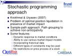stochastic programming approach