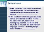 twitter s impact