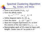spectral clustering algorithm ng jordan and weiss
