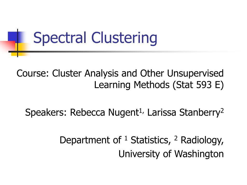 spectral clustering l.