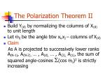 the polarization theorem ii