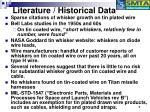 literature historical data