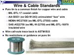 wire cable standards
