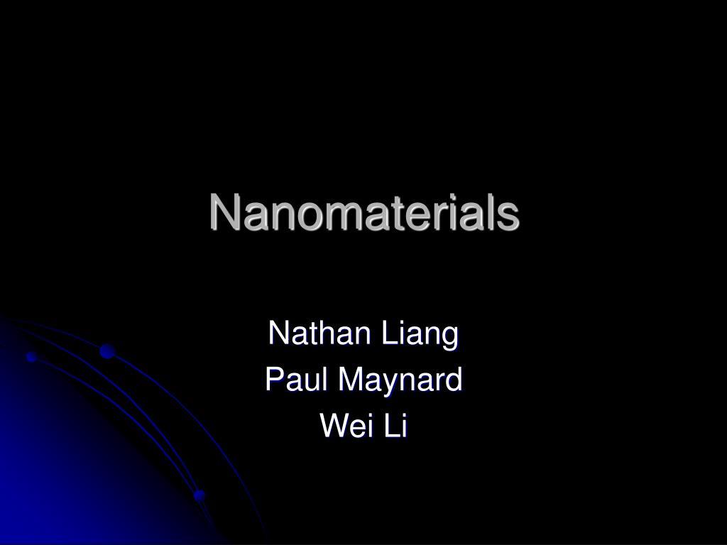 nanomaterials l.