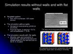 simulation results without walls and with flat walls