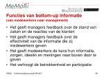 functies van bottom up informatie van medewerkers naar management