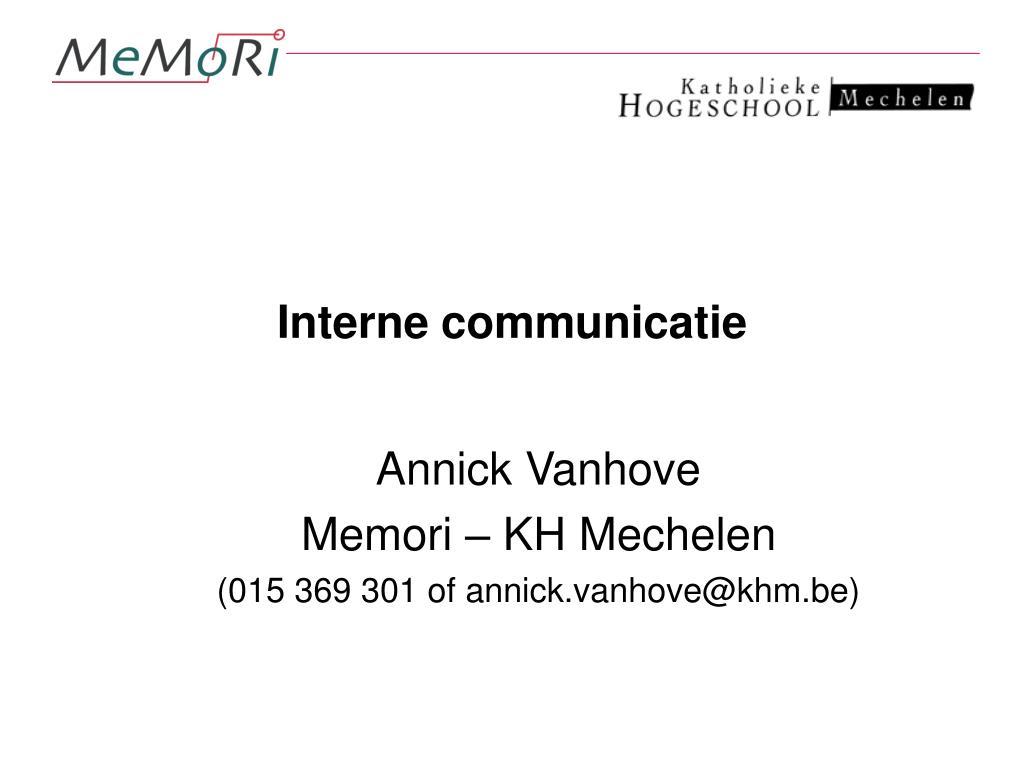 interne communicatie l.
