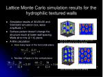lattice monte carlo simulation results for the hydrophilic textured walls