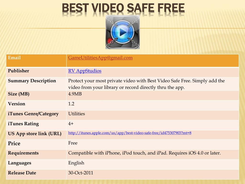 best video safe free l.