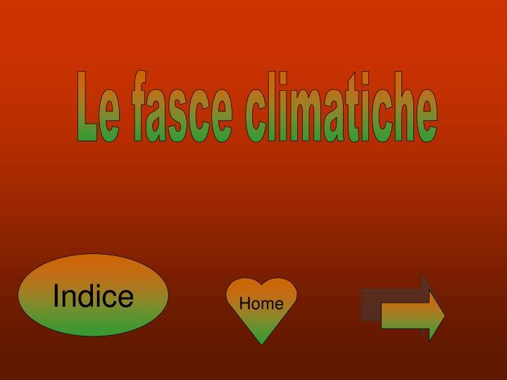 Le fasce climatiche