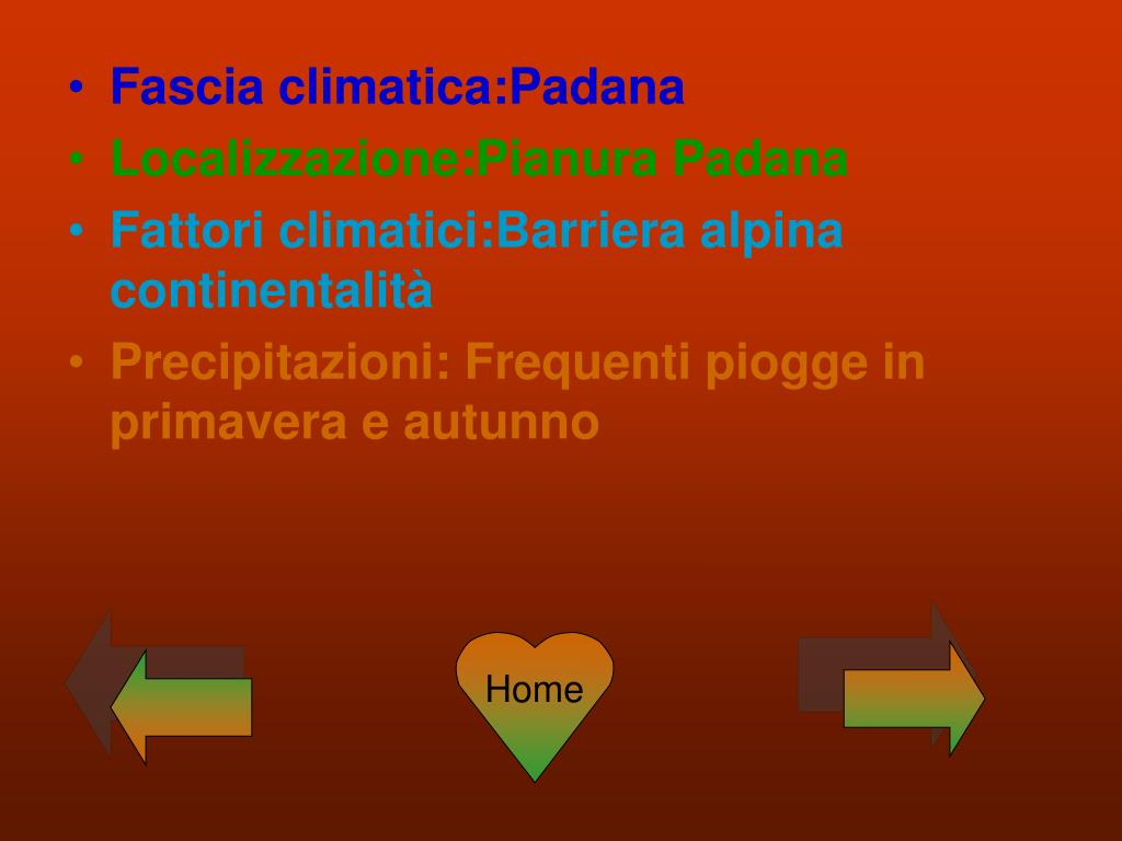 Fascia climatica:Padana