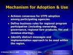 mechanism for adoption use