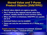 stored value and t purse product objects sv tppo