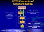 utfs elements of standardization