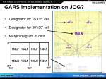 gars implementation on jog