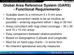 global area reference system gars functional requirements