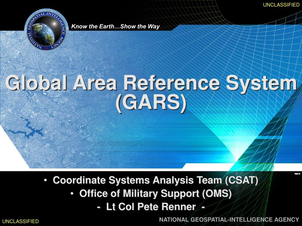 global area reference system gars l.