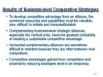 results of business level cooperative strategies