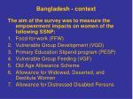 bangladesh context