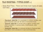 tile roofing types cont