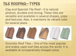 tile roofing types