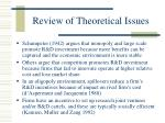 review of theoretical issues